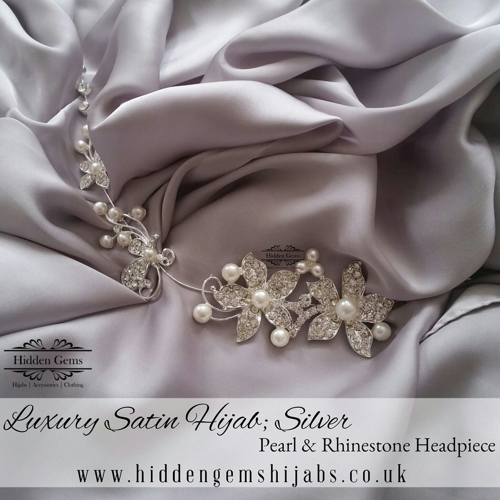 Silver | Luxury Satin Hijab