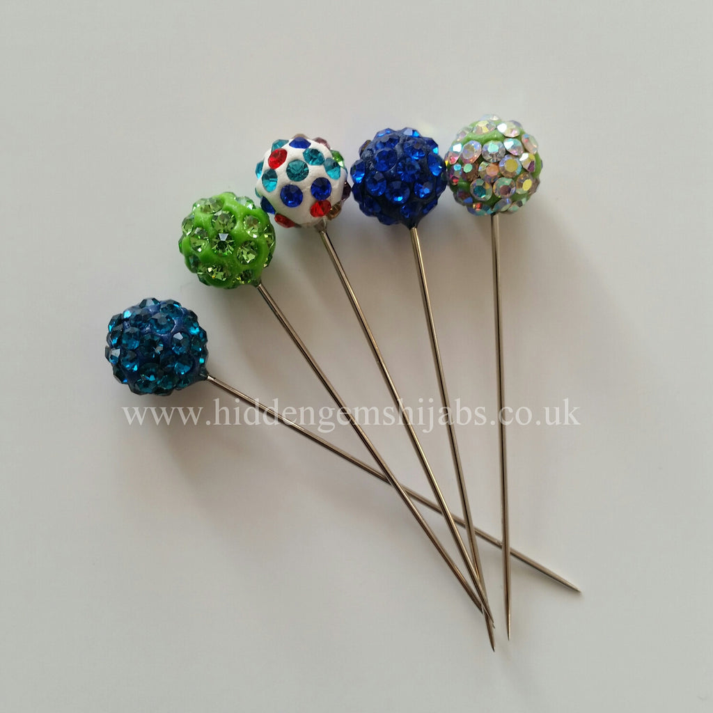 SALE Twinkle  Green & Blue Tones Hijab Pins