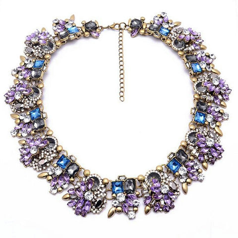 Zainab | Lavender Statement Necklace