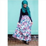 Floral Pleated Ballgown Skirt