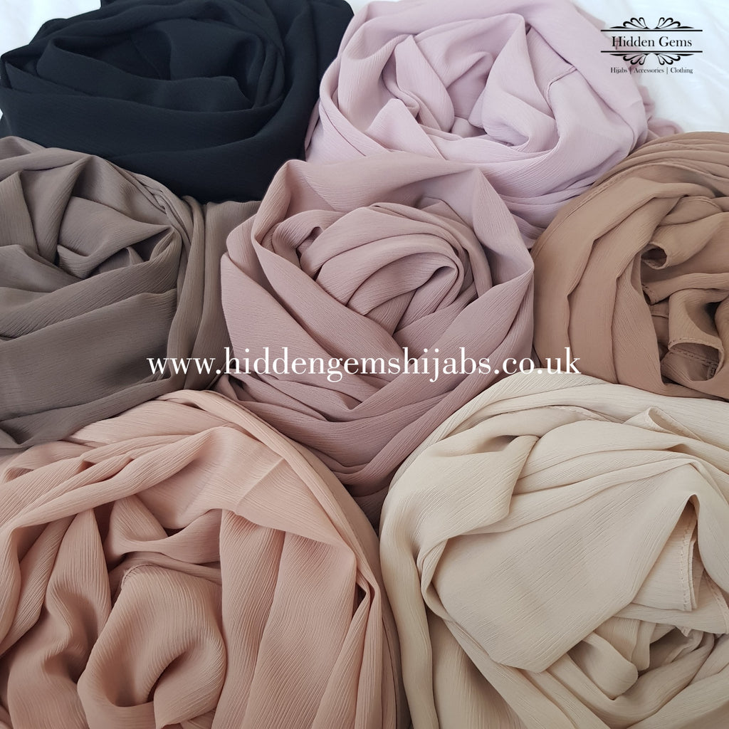 Georgette Crinkle Hijabs | 7 Colours