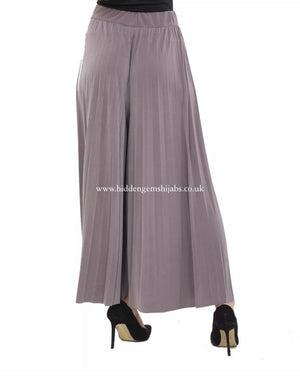 Pleated Pallazzo Pants - 5 colours