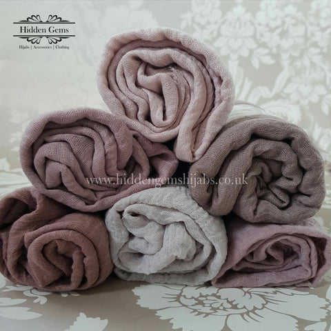 Cotton Crumple Hijabs - Neutrals
