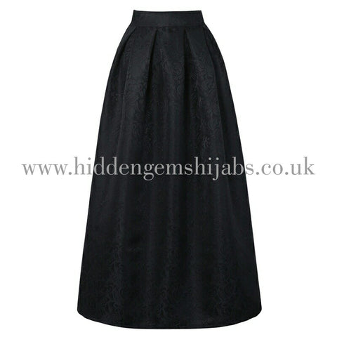 Jacquered Black maxi ballgown skirt