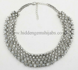H U M A Y R A H |  Statement Necklace - Gold & Silver
