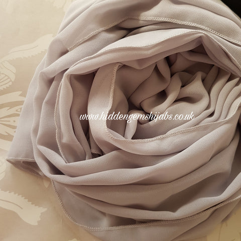 Dove Grey | Maxi Georgette Luxe Hijab