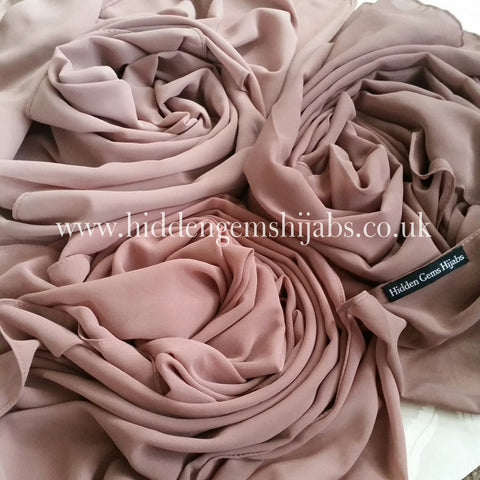 Pastel Rose Soft Touch Crepe Hijab