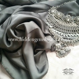 Pewter Luxury Satin Hijab