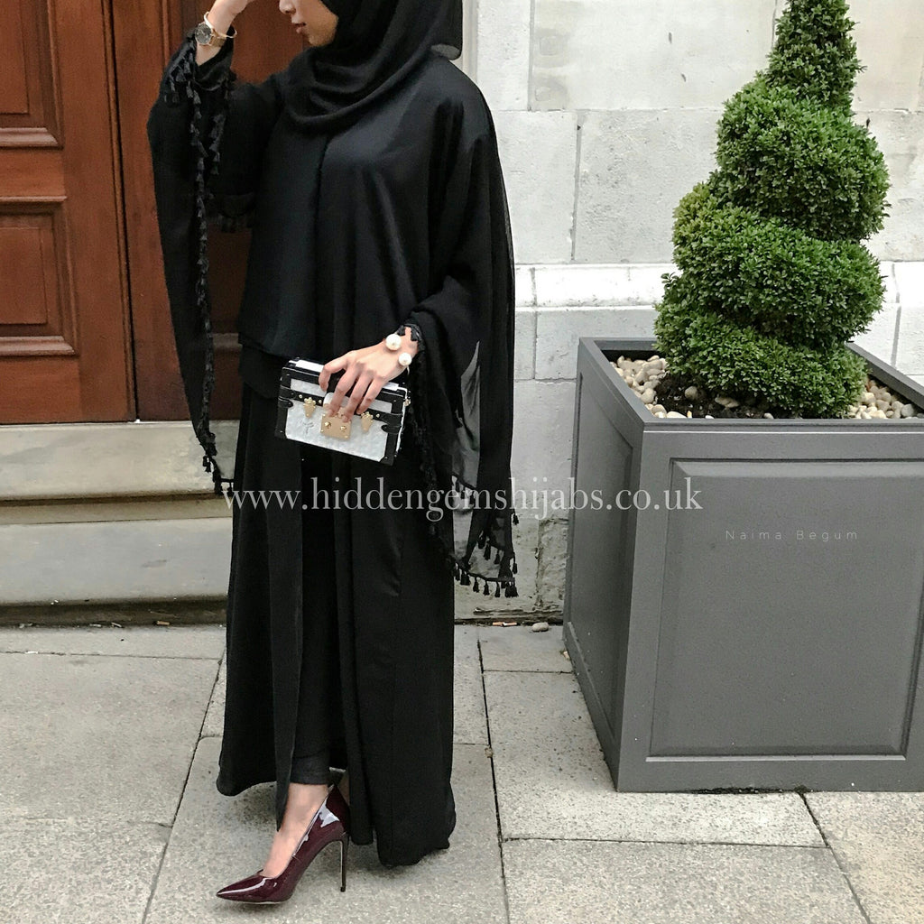 Noir Cape Abaya | Ready to Dispatch