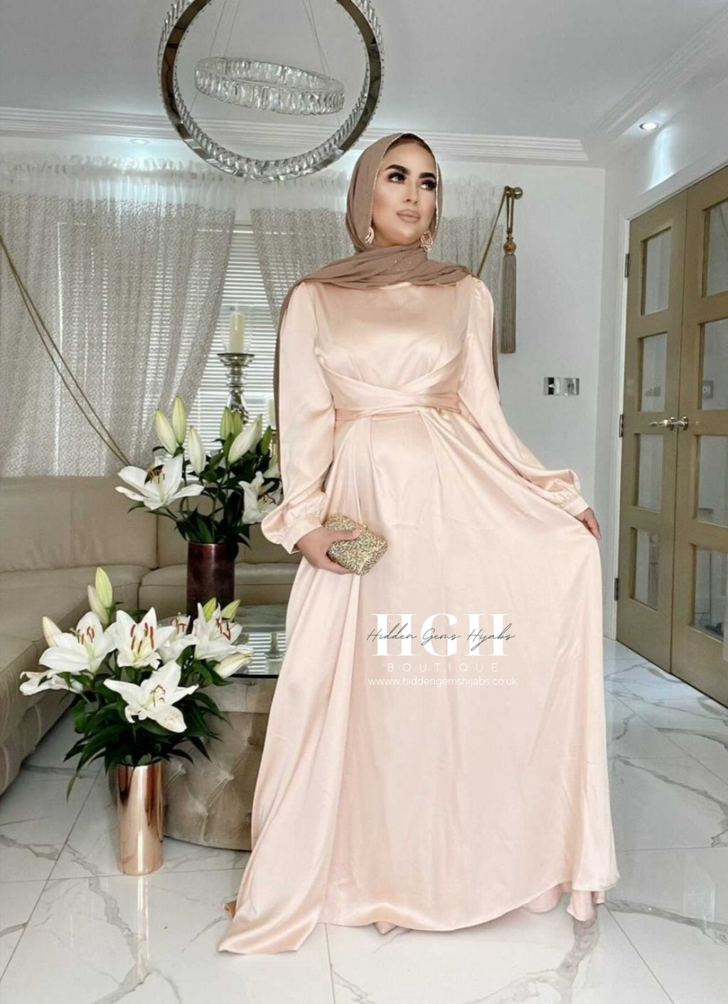 Zainab Satin Wrap Dress