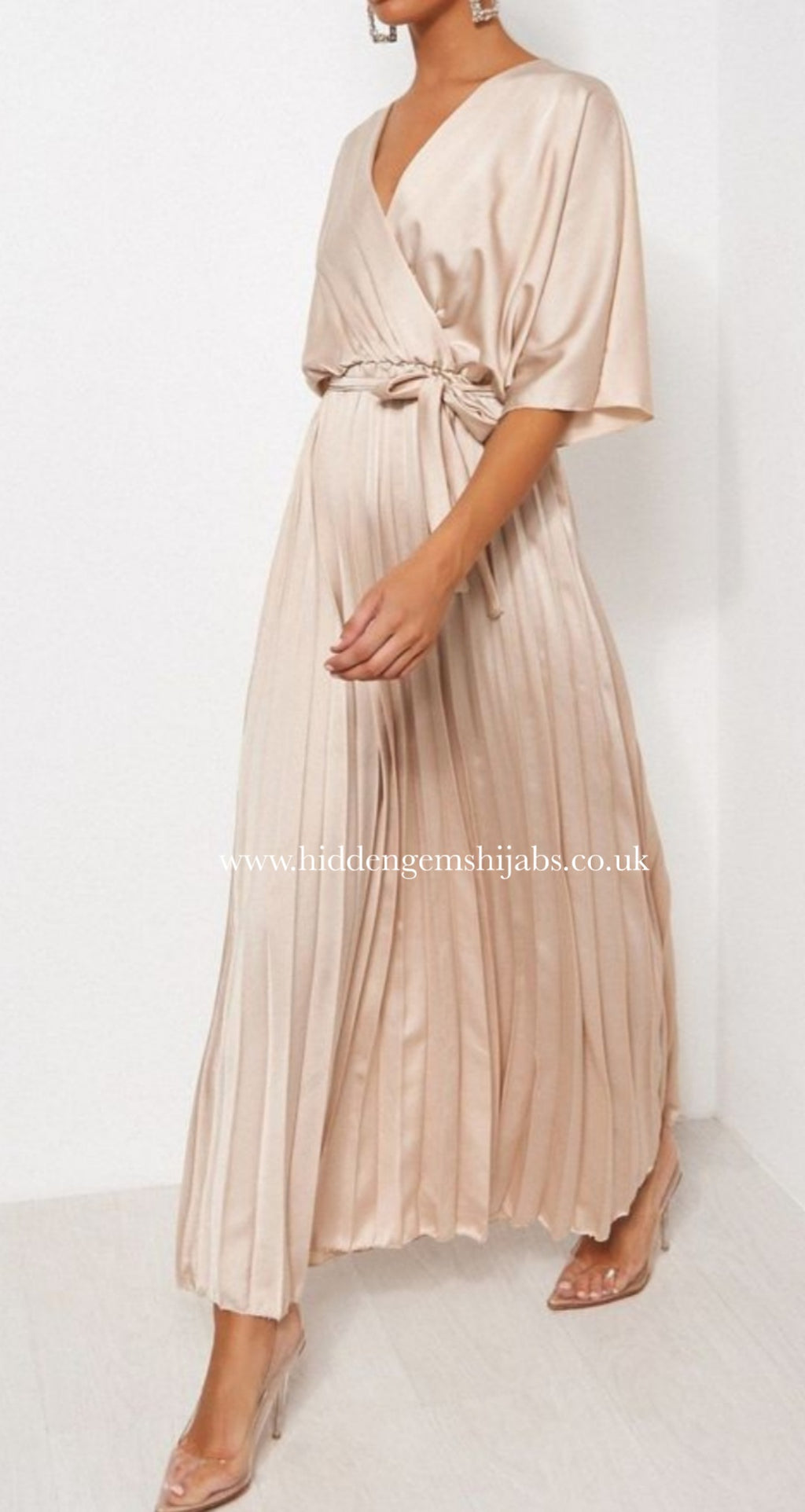 *SALE* Liyana Satin pleated dress | 7 Colours