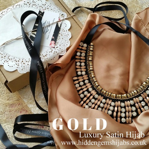 GOLD | Luxury Satin Hijab