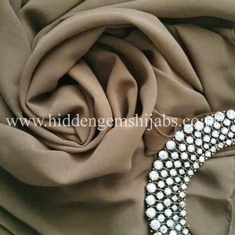 Olive Brown | Georgette Luxe Hijab