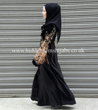 Velvet Chiffon Nida abaya - Ready to dispatch