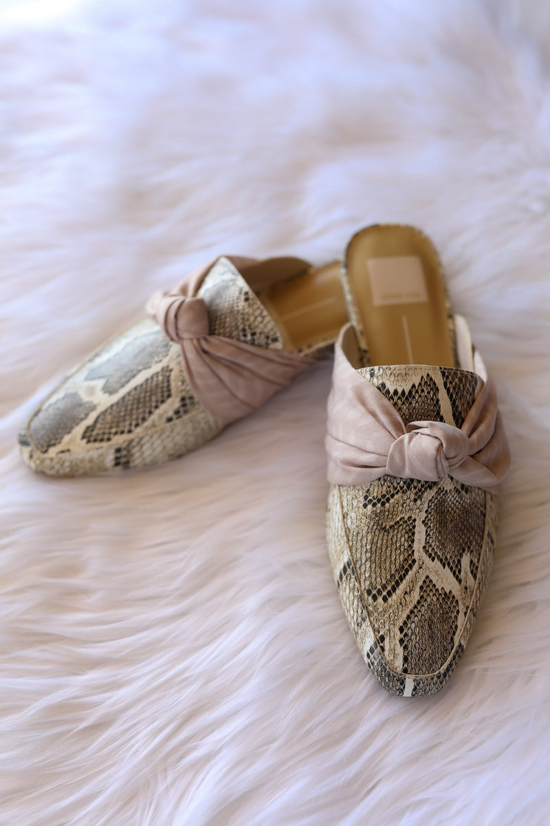 Dolce Vita Hylda Flats in Desert Snake Print Leather