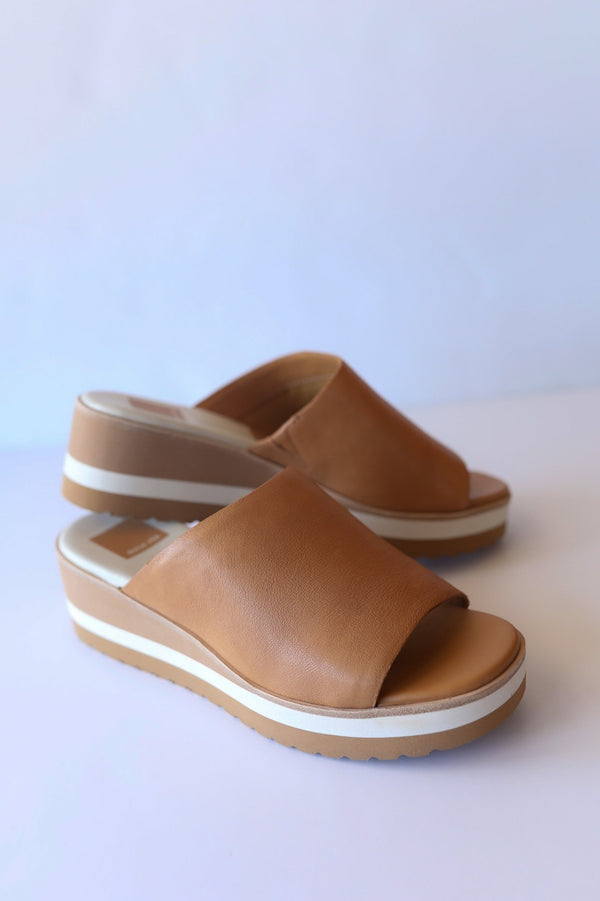Dolce Vita Freta Wedges in Tan Leather