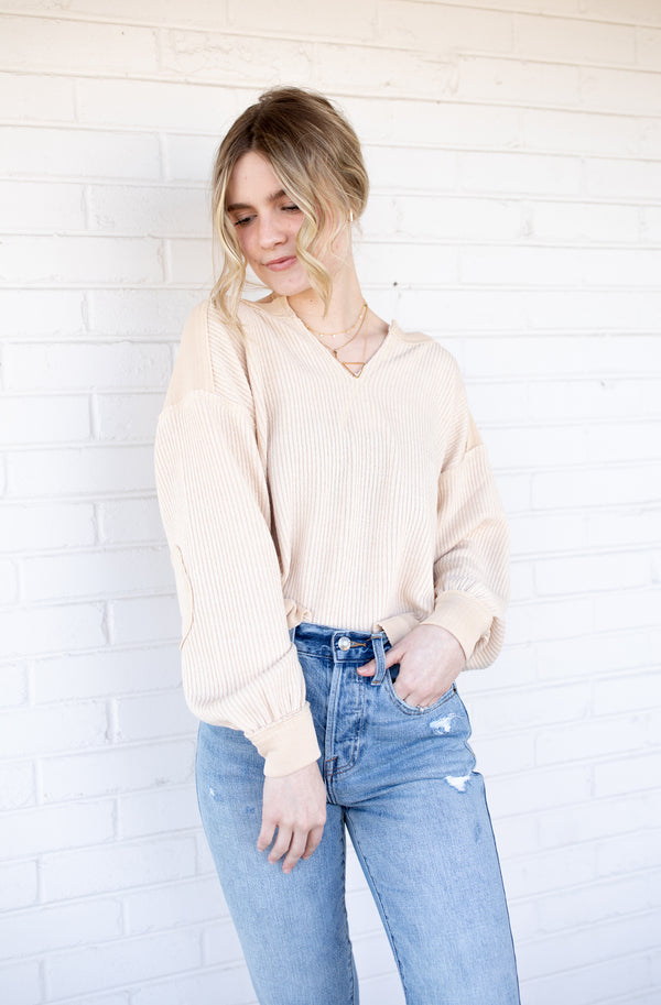 All Day Taupe Top