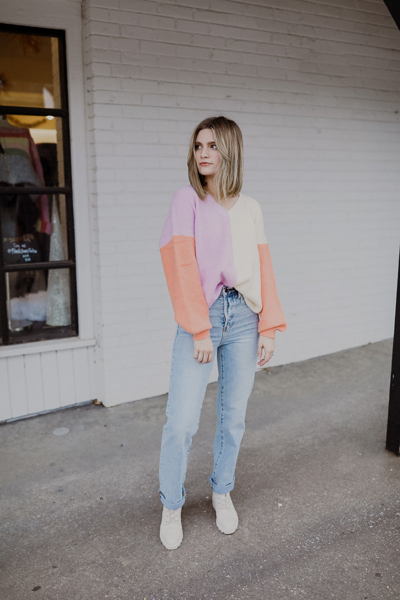 Pastel Colorblock Sweater