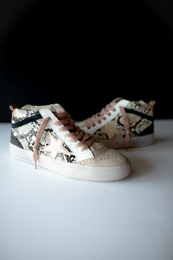 Starla High Top Sneakers - Snake