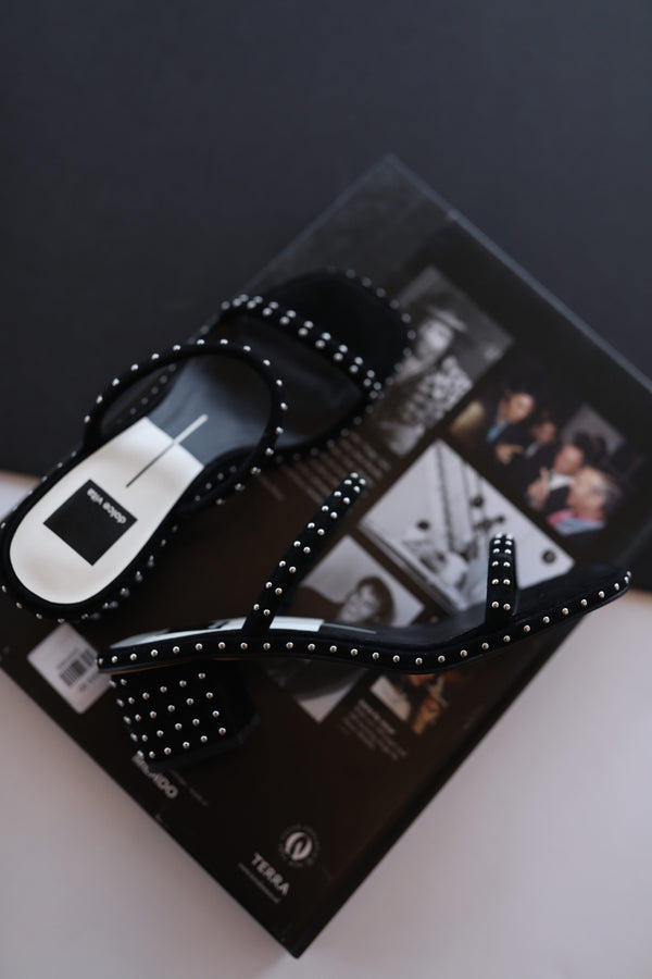 Dolce Vita Riya Studded Sandals in Black