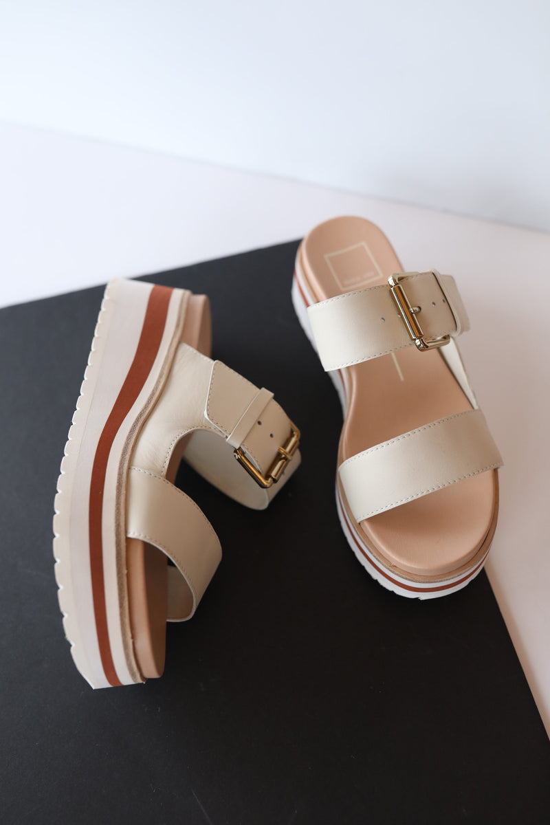 Dolce Vita Macen Sandals in Ivory Leather