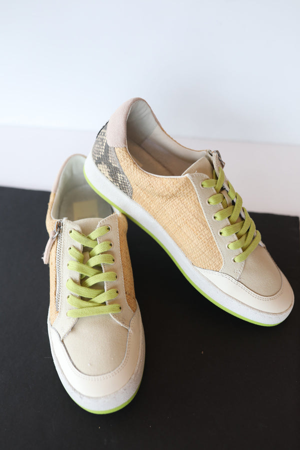 Dolce Vita Miya Sneakers in Natural Raffia Multi