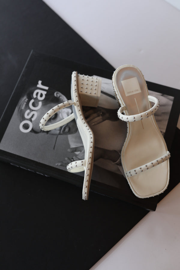 Dolce Vita Riya Studded Sandals in Off White