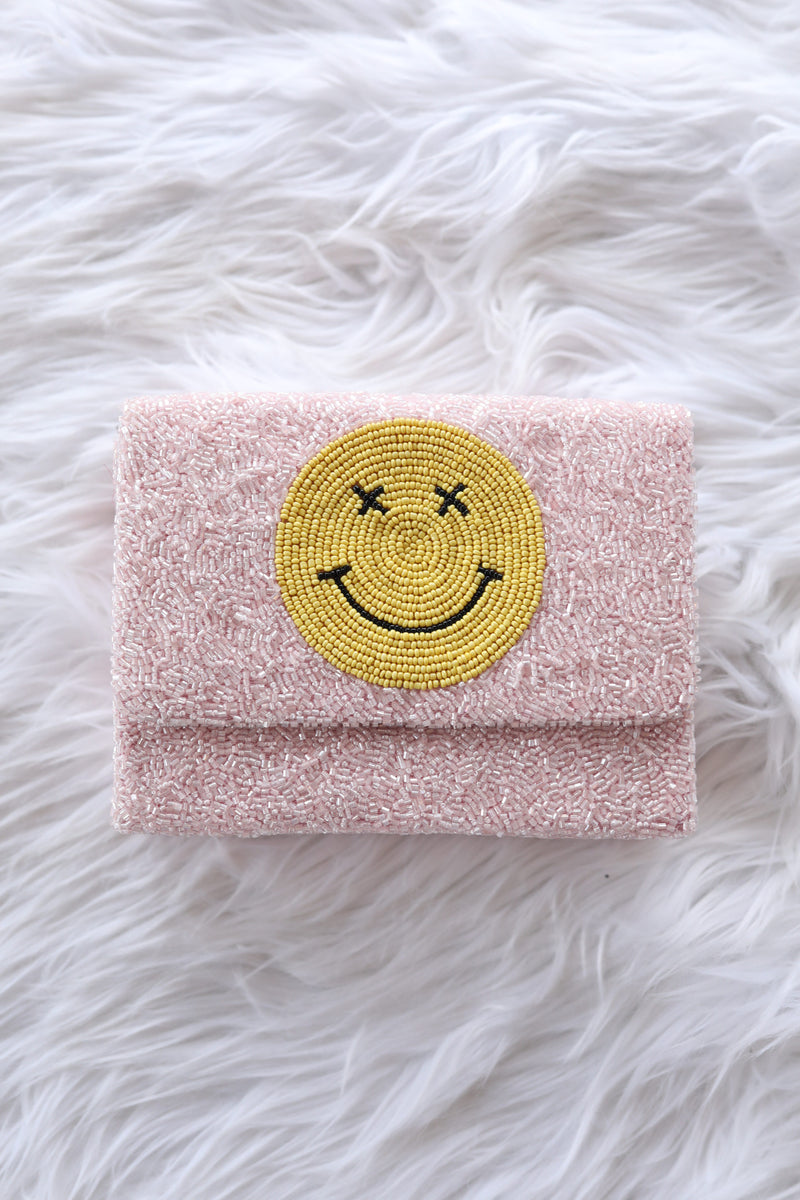 Smiley Beaded Box Bag