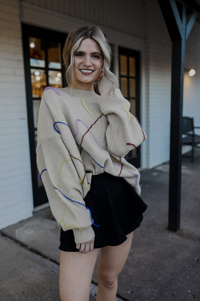 Stitched in Colors Sweater