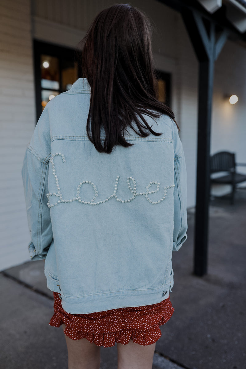 Love It Pearl Denim Jacket
