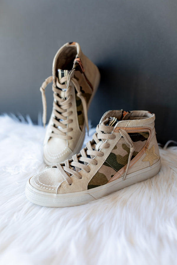 Shannon High Top Sneakers - Camo