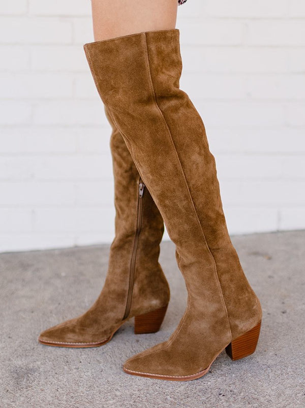 Matisse Sky High Suede Boot - Fawn