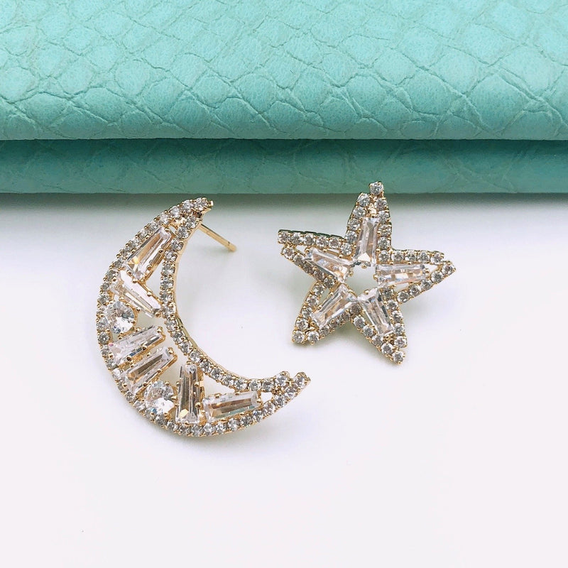 Treasure Jewels Star Moon Earring