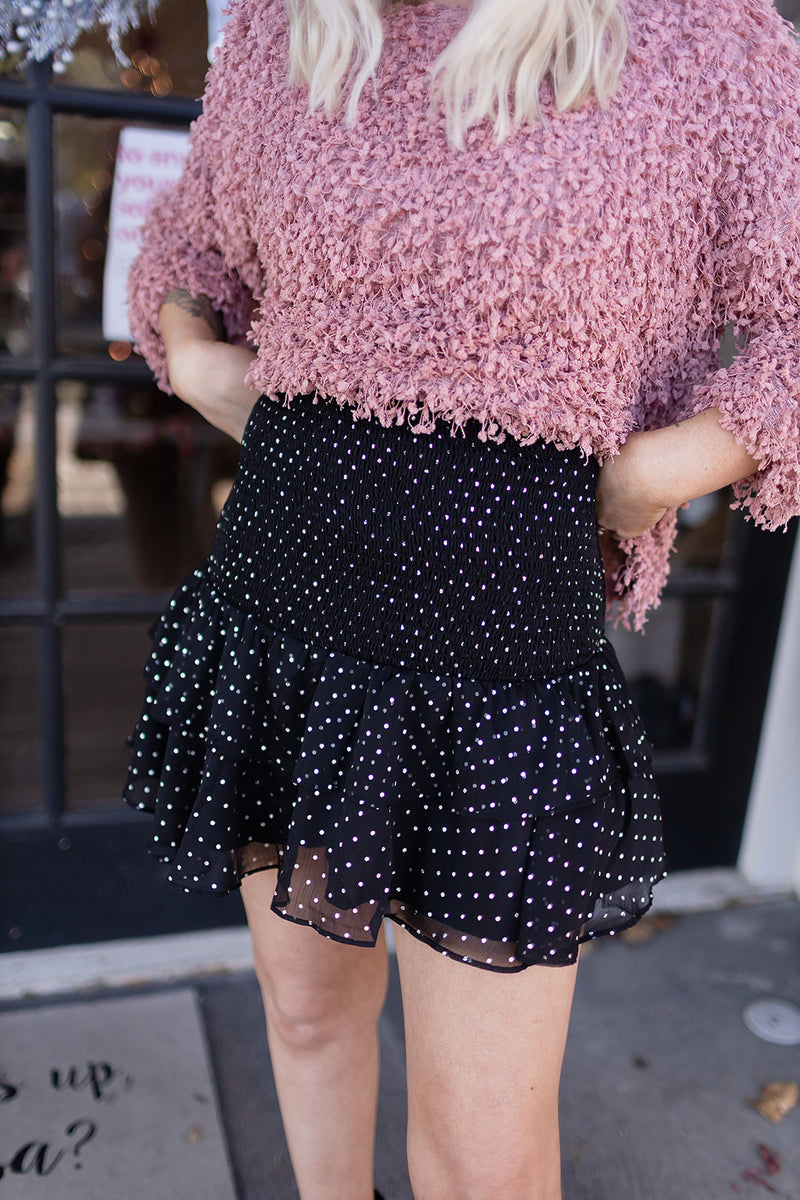 Smocked Polka Dot Skirt