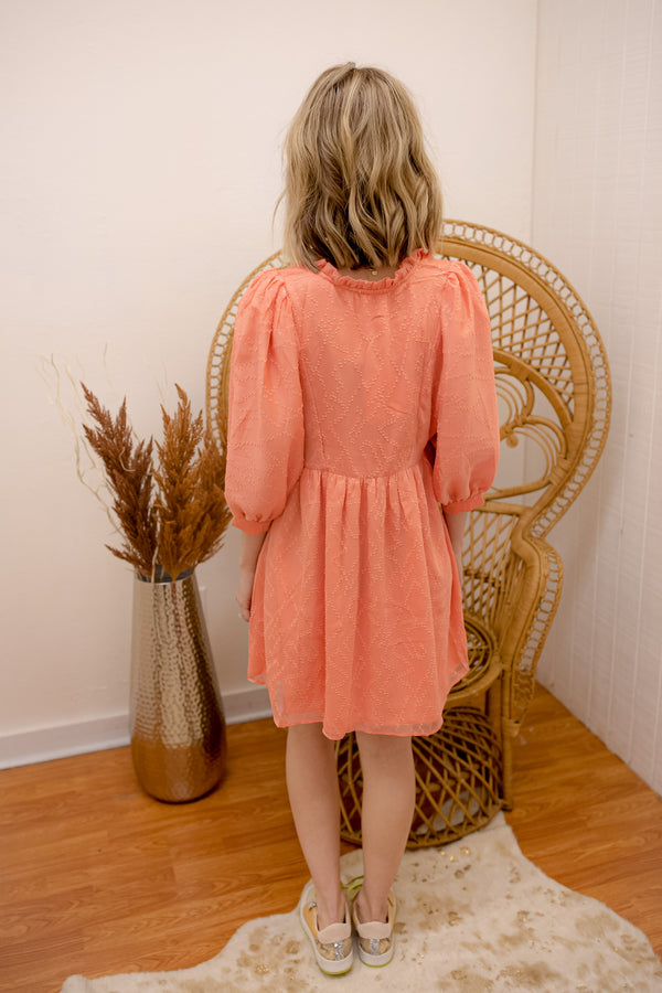 BuddyLove Fiona Dress - Coral