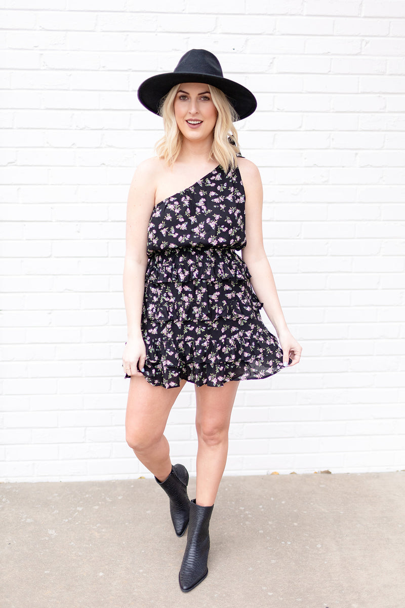 Summer Lovin' Black Floral Dress