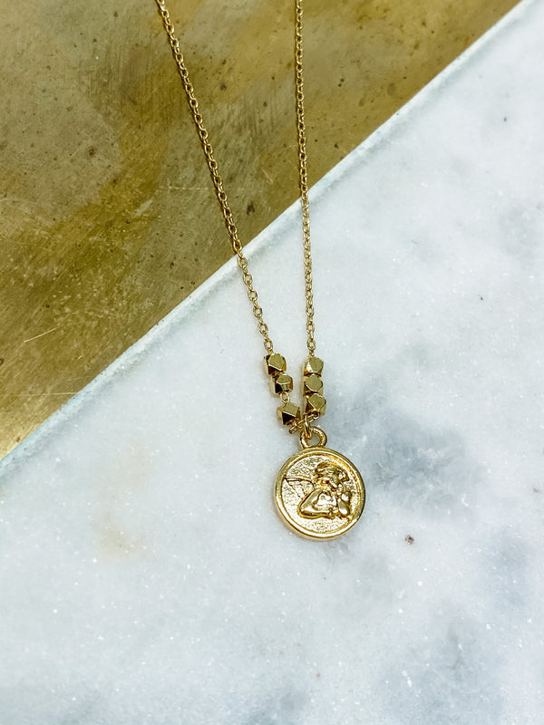 Mini Angel Coin Necklace