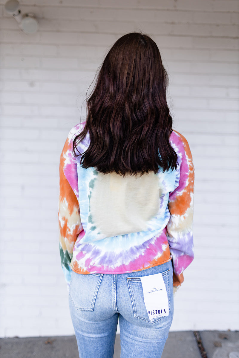 DayDreamer Grateful Dead Tie Dye Long Sleeve Crop