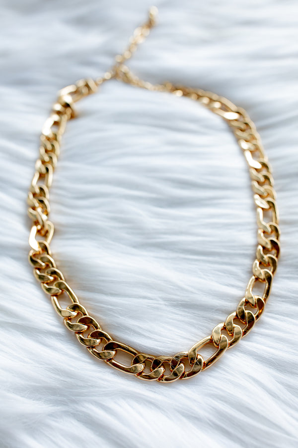 Chunky Matte Gold Necklace