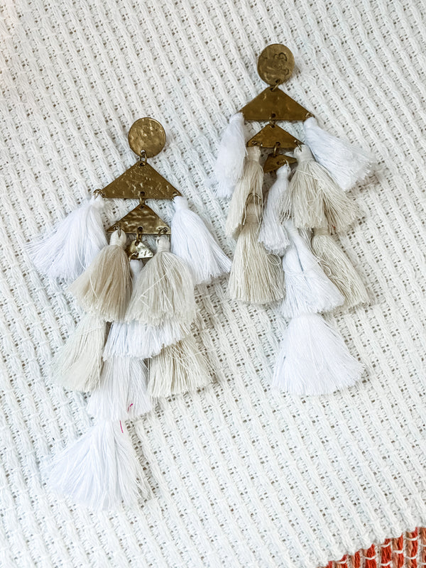 Tassel Up Earring - Ivory