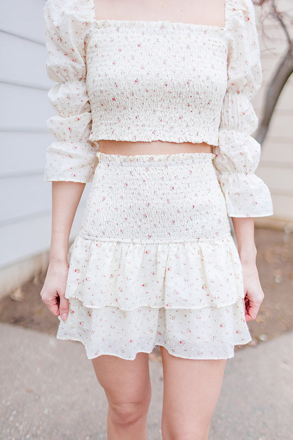 Step Into Spring Floral Skirt
