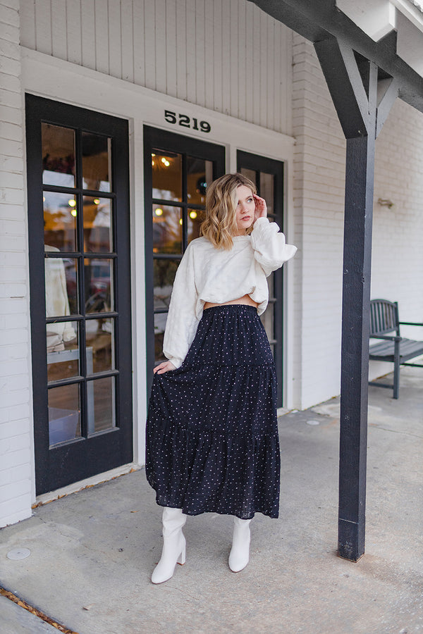Dot You See Midi Skirt