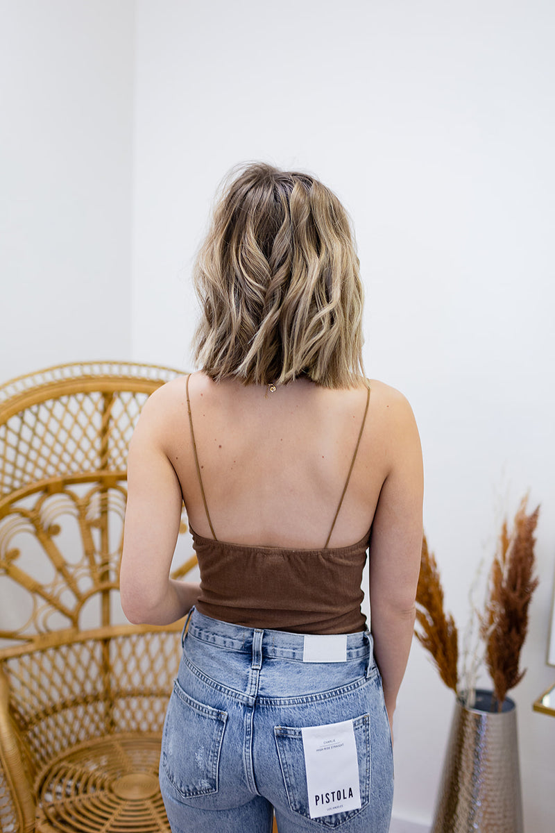 Elevated Basic Bodysuit - Mocha