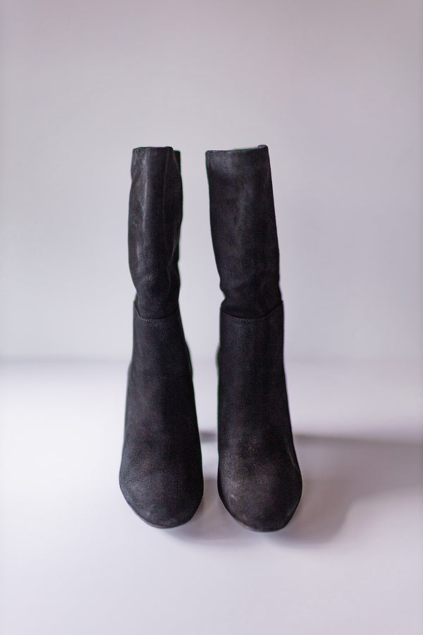 Chinese Laundry Keep Up Suede Boot-Black
