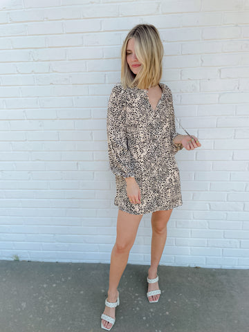 Around Town Taupe Leopard Top