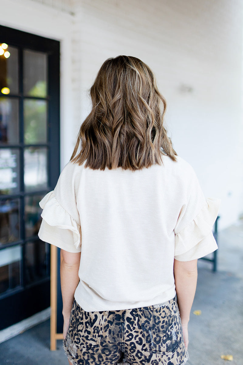 Classic and Cozy Ruffle Top