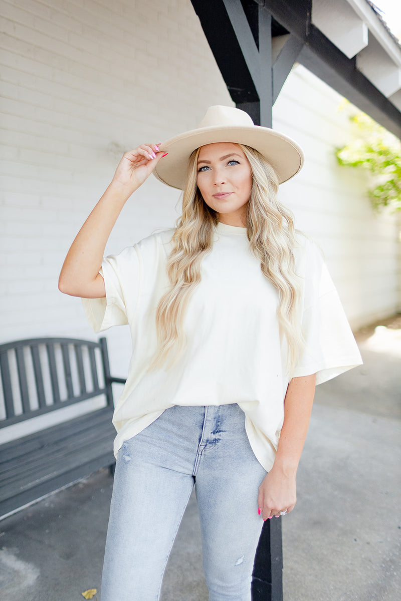 Erin Oversized Tee - Cream