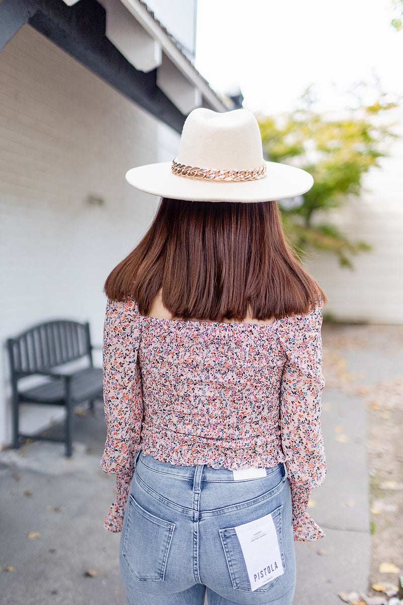 BuddyLove Cassie Smocked Long Sleeve Top - Bouquet