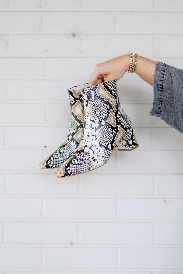Matisse Cocoa Boot - Natural Snake