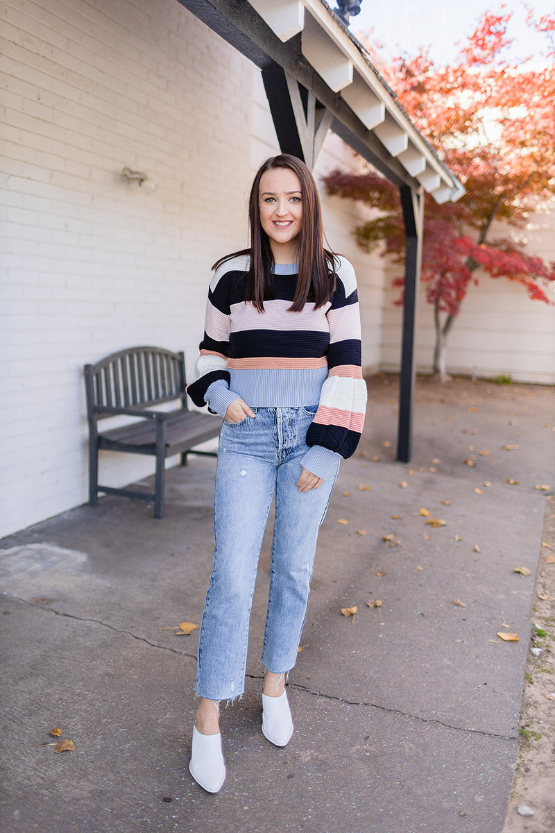 Preppy Stripes Sweater